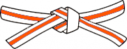 White belt- Orange stripe