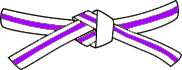 White belt - Purple stripe